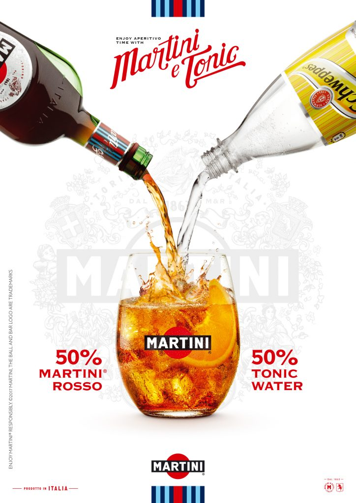 drinks photography of Martini Rosso with Orange and Schweppes dr4inks photography by London food Photographer, Michael Michaels