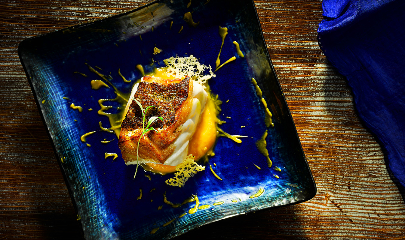 Golden Baked Cod by London Food Photographer Michael Michael