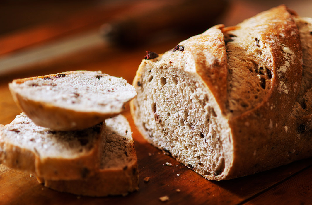Sliced wholemeal bread and loaf by London Food Photographer Michael Michaels