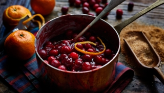 Home made Cranberry Sauce bu London food photographer