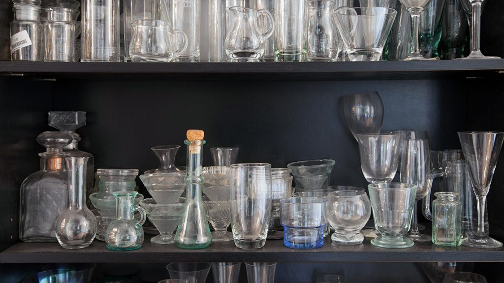 Glass props at london Food Photographer, Michaels Michaels studio