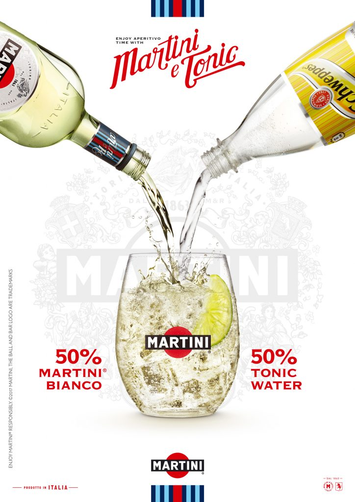 drinks photography of Martini Bianco with lime and Schweppes by London food and drinks photographer, Michael Michaels