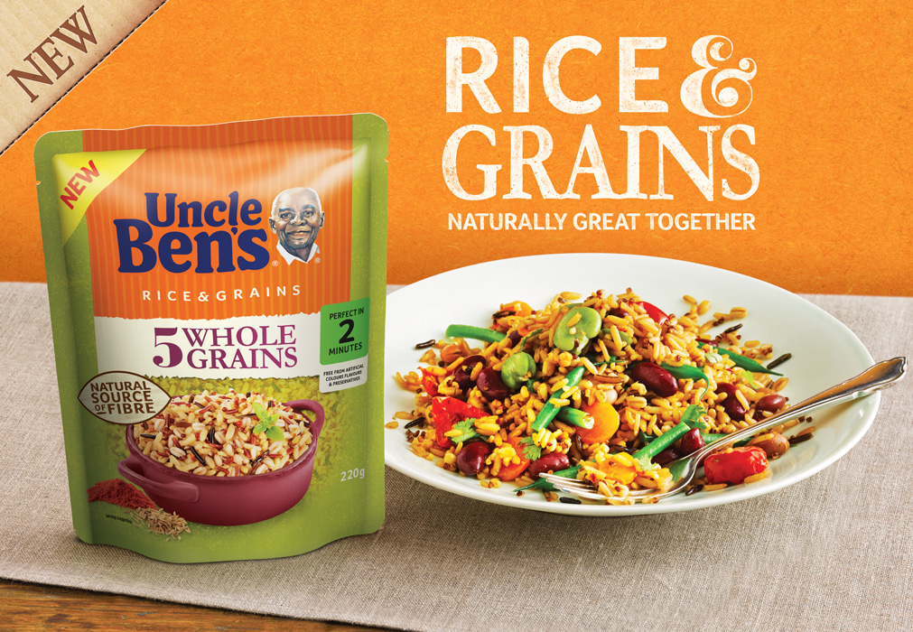 Uncle Bens Grains vegetarian Ad by London food photographer michael michaels