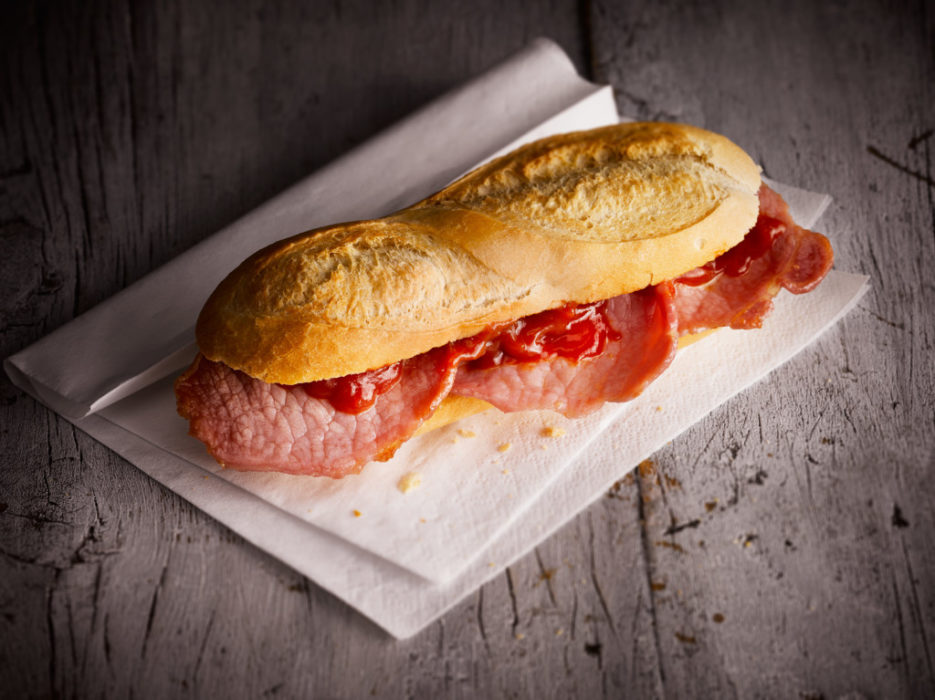 Bacon Baguette by London food photographer michael michaels