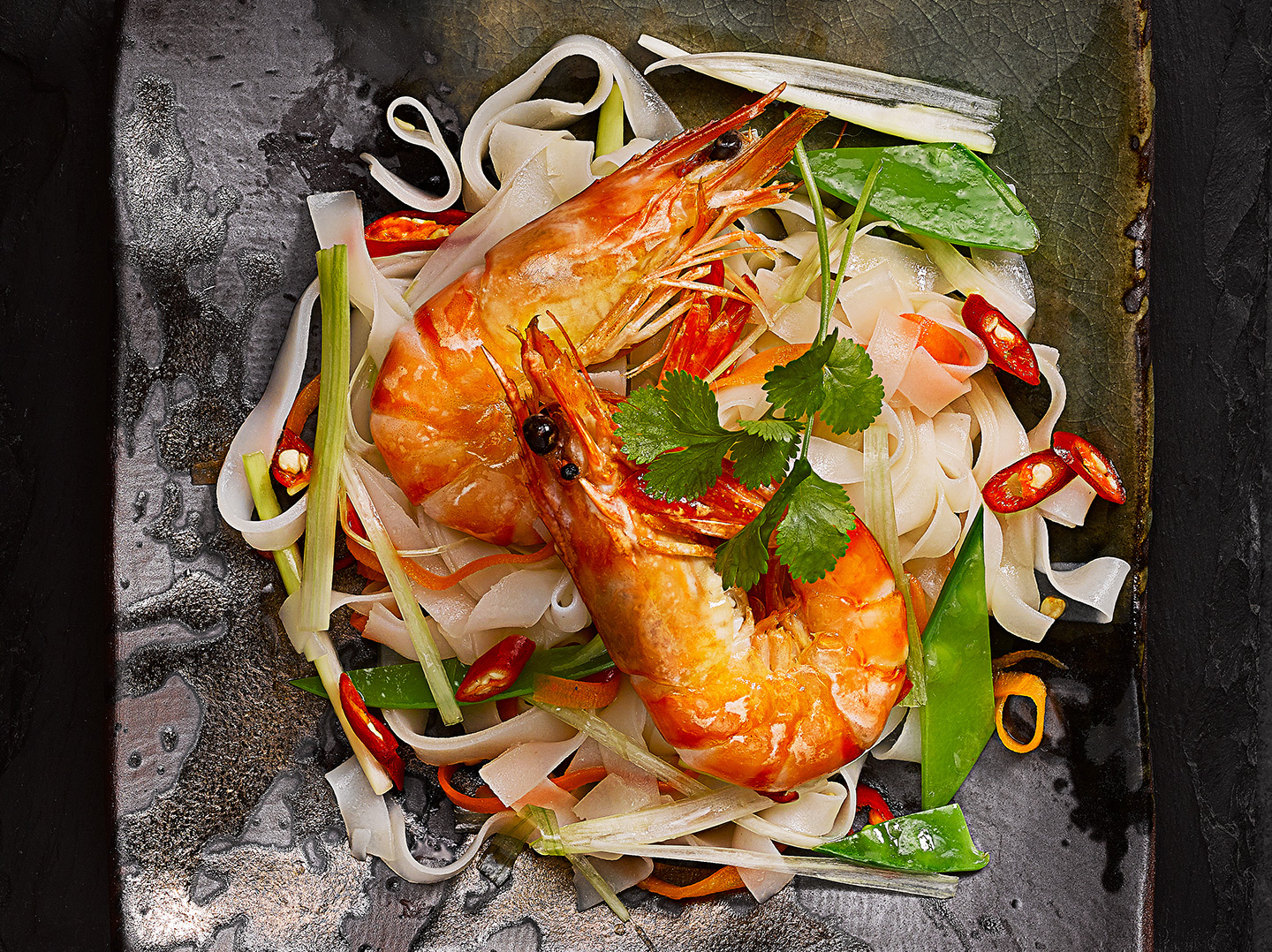 Prawn-noodle by London food photographer michael michaels