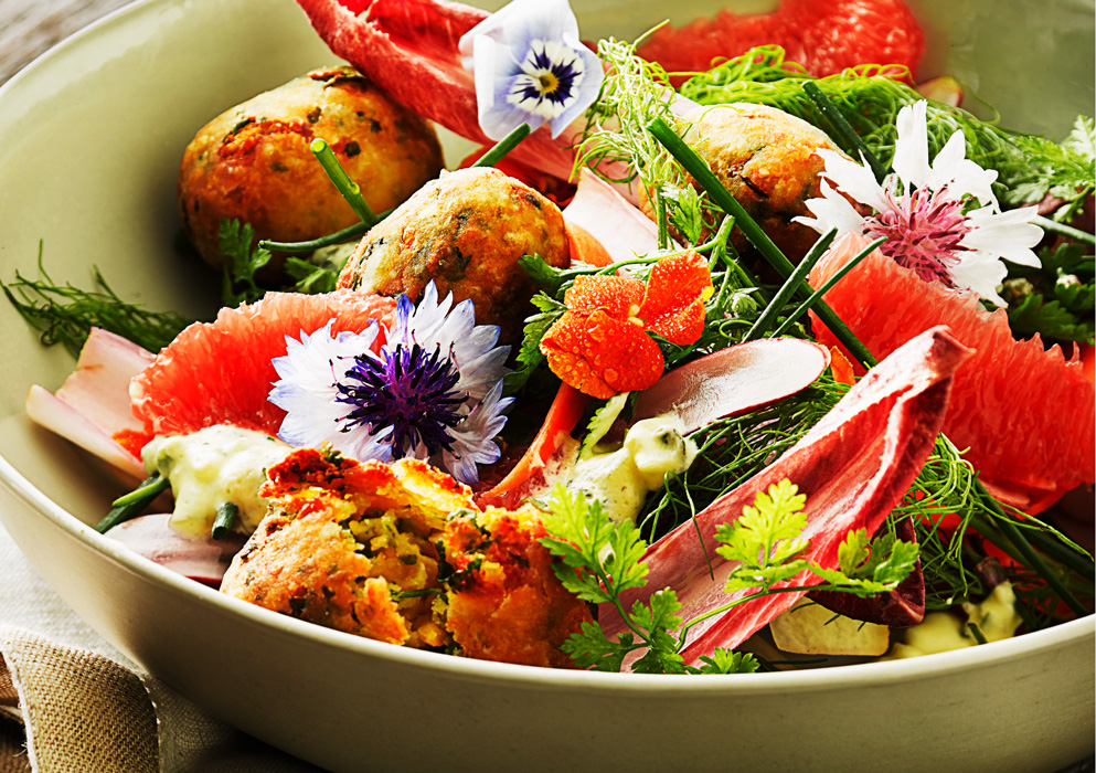 Falafel salad by London Food Photographer Michael Michaels