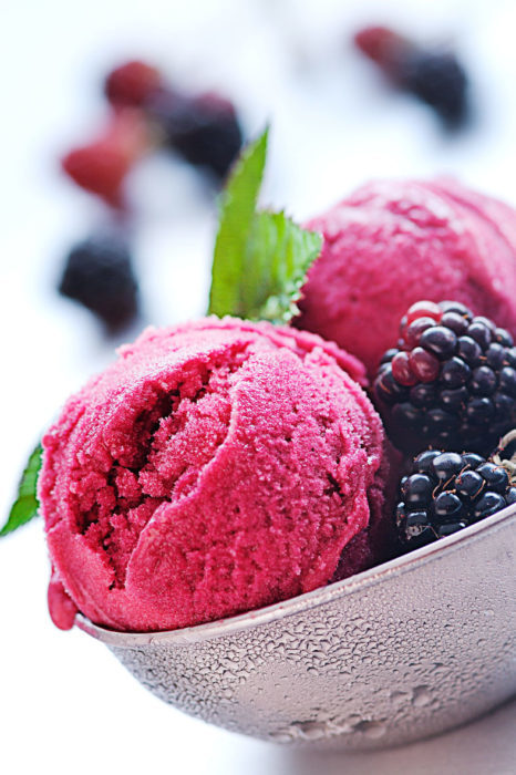 photo of blackberry sorbet by Sorbet_by_London_food_photographer