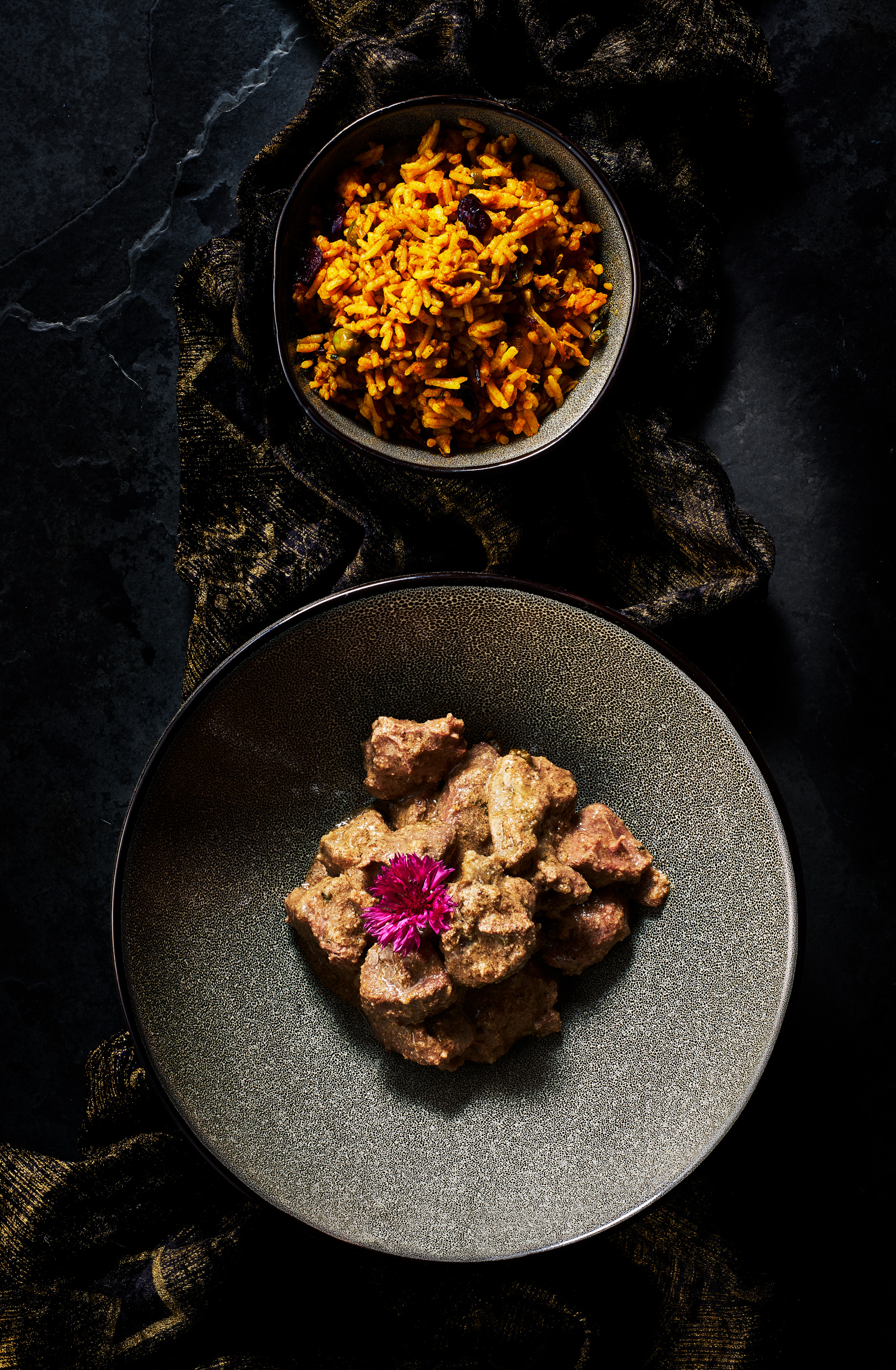 Venison curry by London food photographer, Michael Michaels