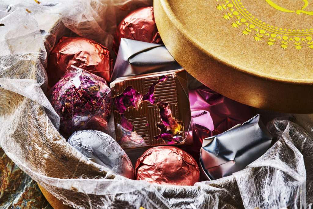 Mixed chocolate selection box _by_London_Food_Photographer_Michael Michaels