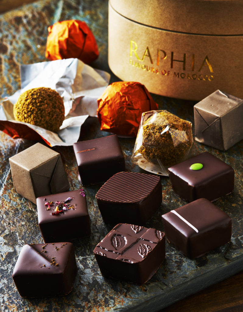 Dark chocolate selection. Photography by London Food Photographer