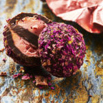 Rose flavoured chocolate by london food photographer, Michael Michaels
