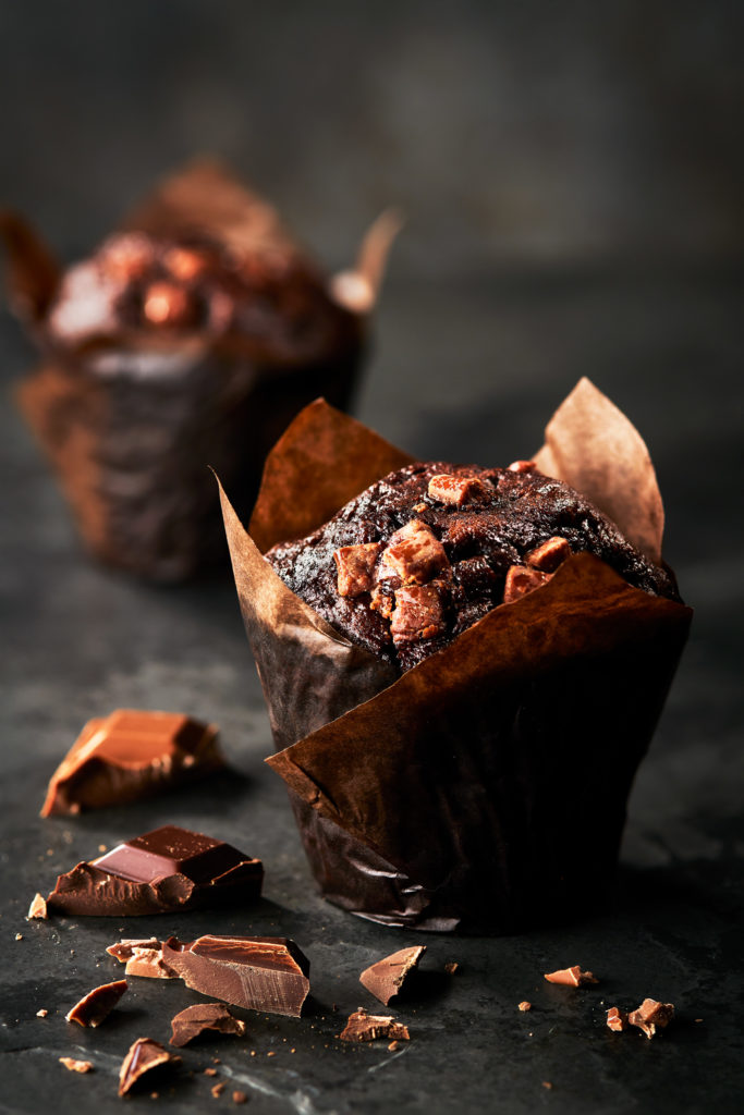 Chocolate Muffin photo by London food photographer Michael Michaels