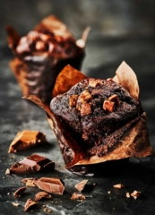 Photograph of Chocolate-Muffin_Photograph_by_London_food_photographer_Michael_Michaels